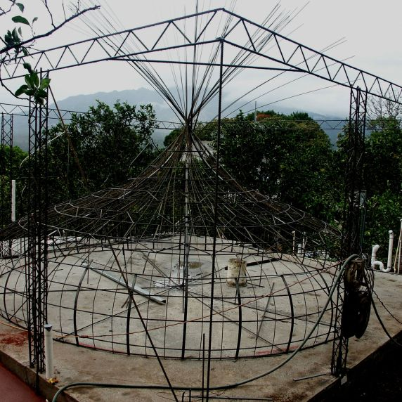 ferrocement taj dome before stucco screen
