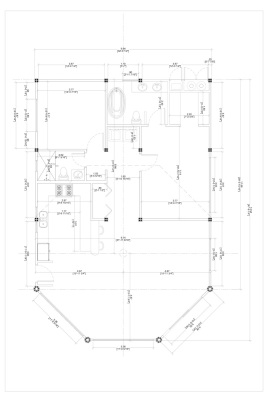 floorplan of 2 BR bamboo house