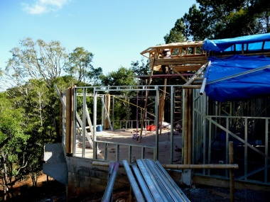 Bamboo and steel framing