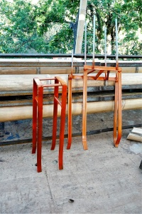 Prefabricated connections for bamboo bambu posts