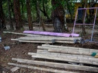 pre fabricated bamboo bambu posts