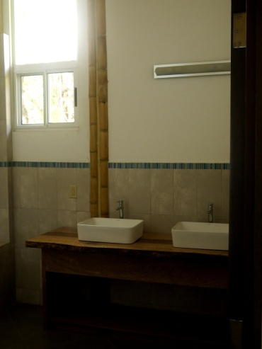 Master Bath with Bamboo Accent