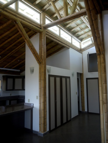 Natural indirect lighting from bamboo cupola