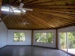 Bamboo ceiling great room